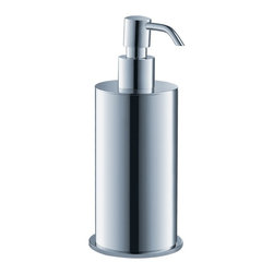 Fresca - Fresca Glorioso Free-Standing Brass Soap Dispenser - All our bathroom accessories are imported and are selected for their modern, cutting edge designs. All accessories are made with brass with a quadruple chrome finish. All our accessories have been chosen to complement our other line of products including our vanities, steam showers, whirlpools, and toilets.