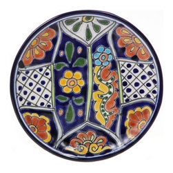"Mexican Talavera - Mexican Talavera 8"" Decorative Plate - Available in Four Designs, Design D - Mexican Talavera Decorative Plate - 8"""