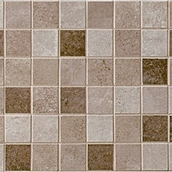 Pozzalo Universal Mosaic - Let the earthy tones of Pozzalo glazed ceramic tile envelop you with a sense of radiating warmth. With Pozzalo, you'll capture the classic ambience of a distant travertine courtyard, anyplace you desire. – Travertine look – Available in five colors – Ideal for floors and walls alike