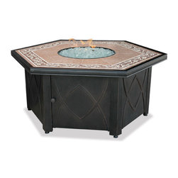 Uniflame - Uniflame GAD1380SP Lp Gas Outdoor Firebowl w/ Decorative Tile Mantel - Lp Gas Outdoor Firebowl w/ Decorative Tile Mantel belongs to Outdoor Living Collection by Uniflame