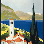 Keep Calm Collection - Italian Lakes Vintage Travel Poster, art print - This product is reproduced from a publication, advertisement, or vintage poster. To maintain consistency with the original image, this final product has not been retouched. This print is produced on a 270 gsm fine art paper stock.