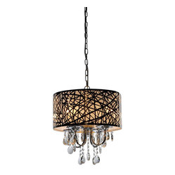 Warehouse Of Tiffany Abstract 4 Light Crystal Chandelier