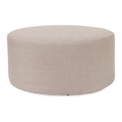 Howard Elliott - Prairie Linen Natural Universal 36 Round Ottoman - The Universal 36 round in prairie linen is a great addition to any room. Their simple design makes them great to use as side tables, ottomans, alternate seating and more.