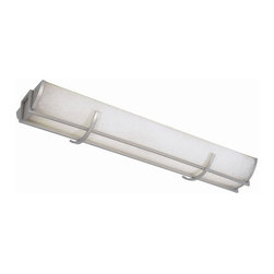 World Imports - Linear 3 Flourescent Light Flush Mount in Bru - Manufacturer SKU: WI720337. Bulbs not included. Combine style with function in the kitchen Collection. 3 Lights. Power: 32w. Type of bulb: T8. Brushed Nickel finish. 48.5 in. W x 11.25 in. D x 5.5 in. H (20 lbs.)