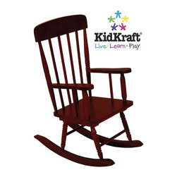 KidKraft - Spindle Rocking Chair - Cherry by Kidkraft - Our Spindle Rocking Chair is inspired by painter Norman Rockwell's classic artwork and was designed to capture the timelessness of that era. Kids will love rocking back and forth in this child-sized chair.