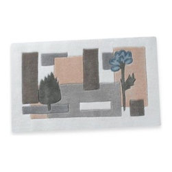 Croscill - Croscill Spa Leaf Bath Rug - A floral, leaf and block motif in subtle shades of blue, green, tan and gray adds a simple, sophisticated touch to your bathroom. Coordinate with the Spa Leaf bath ensemble, shower curtain and towels for a finished look.
