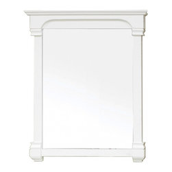 "Bellaterra Home - Rectangular Solid Wood White Frame Mirror - Solid wood construction frame with high quality mirror to withstand bathroom humidity. Frame Dimensions: 36""W X 41.5""H X 2.4""D; Finish: White; Material: Birch ; Beveled: No; Shape: Rectangular; Weight: 34.2; Included: Brackets, Ready to Hang"