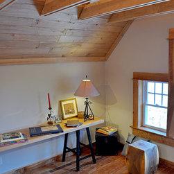 Reclaimed Red Birch Floor - Loft Home Office Renovation - Reclaimed Red Birch Floor & Ceiling