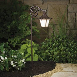 """Kichler - Kichler 15420AGZ Cotswold Lodge Path & Spread Light 15420AGZ - Aged Bronze finishBulb Included: Yes Bulb Type: 912X Collection: Cotswold Finish: Aged Bronze Height: 25"""" Length: 9"""" Number of Lights: 1 Socket 1 Base: Wedge Socket 1 Max Wattage: 16 Style: Lodge Country Rustic Garden Type: Path Light Voltage: 12 Volt Wattage: 16.25 Watt Width: 6"""""""