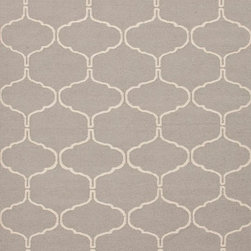 Jaipur - Contemporary Maroc 8'x10' Rectangle Medium Gray-Medium Gray Area Rug - The Maroc area rug Collection offers an affordable assortment of Contemporary stylings. Maroc features a blend of natural Medium Gray-Medium Gray color. Flat Weave of 100% Wool the Maroc Collection is an intriguing compliment to any decor.