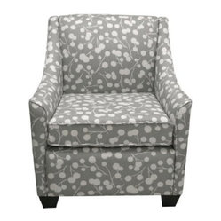 Burnham Floral Armchair - Gray