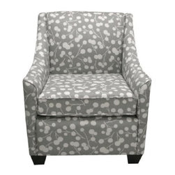 Burnham Floral Armchair - Gray - This beautiful chair combines a classic armchair with a contemporary botanical print. It's simply lovely.