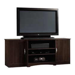 Sauder - Sauder Beginnings Entertainment Credenza in Cinnamon Cherry - Sauder - TV Stands - 413043 -
