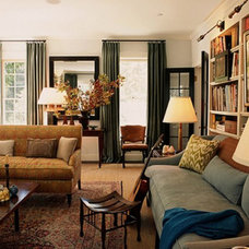 Classic Living Room with Blend Of Traditional and Modern Styles on April 08, 201
