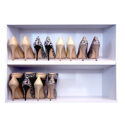 Shoe Stax - Shoe Stax (Set of 6) save space by storing two pairs of shoes in the space of one.