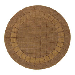 "Oriental Weavers - Indoor/Outdoor Lanai Round 7'10"" Round Brown-Beige Area Rug - The Lanai area rug Collection offers an affordable assortment of Indoor/Outdoor stylings. Lanai features a blend of natural Red-Beige color. Machine Made of Polypropylene the Lanai Collection is an intriguing compliment to any decor."