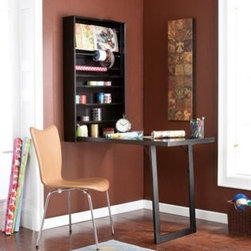 Wildon Home � - Southern Southern Enterprises Warwick Wall-mount Craft Desk, Black - This is the perfect craft table for a small space. It folds up when not in use and has storage inside.