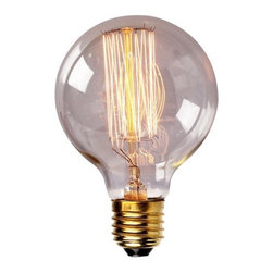 ParrotUncle - Edison Tungsten Globe Filament Replacement Bulb - Enjoy a touch of period home ambiance with one of our vintage Edison bulbs. Its diamond filament and slight tint creates a warm and welcoming glow that provides authenticity to any sophisticated interior. Faithfully recreated from historic designs, these light bulbs look great in any exposed light socket such as chandeliers, sconces or socket pendants. Brass E26/E27 screw base with clear glass bulb will assure them a 3000 hours average service life.