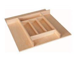 """Century Components - Century Components TTKF14PF Wood Silverware Tray Drawer Organizer, 20"""" X 22"""" - Silverware Tray Organizer - 20""""W x 22""""D x 2-3/8""""H. This unit is designed to be trimmable to desired width and depth to fit the drawer size and design in your kitchen. Century Components TTKF20PF is made from solid maple wood with a clear natural finish for great appearance, quality and durability. This silverware tray features wide step downs and extra storage compartments."""