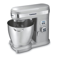 Cuisinart - Cuisinart SM-70BCFR Brushed Chrome 7-Quart 12-Speed Stand Mixer (Refurbished) - The extra-large Cuisinart 7 Quart Stand Mixer has the power,capacity and precision to handle any job your recipes require. With three accessories,you can mix,whip or even knead dough. With 12 speeds,you'll always do it just right.