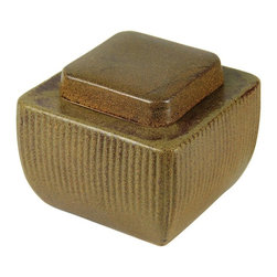 Craftware - Craftware Pottery Square Ceramic Firepot - Tan - HP 7075 - Shop for Fire Pits and Fireplaces from Hayneedle.com! The Craftware Pottery Square Ceramic Firepot - Tan is the perfect firepot for yoru patio. Simple and functional this charming firepot is sure to warm things up! Durable ceramic craftsmanship ensures lasting longevity. Gel Fuel Safety: Never add fuel to an already lit pot Properly snuff the fire with the included sniffer and let sit About Craftware For decades Craftware Pottery has offered cutting edge home and garden pottery lines that are unique and functional. They are located in Omaha Nebraska and committed to providing items that meet any and all customer design challenges. Craftware Pottery containers come in a wide variety of sizes shapes and colors. They offer a selection of glazed pottery all-weather poly containers terracotta clay pots commercial planters garden accents water features home decor and more.