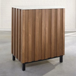 Sauder Soft Modern Cubby Wine Storage Cabinet - Sleek, modern, and loaded with storage, this ...