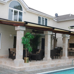 Retractable Canopy System by Breslow Home Design - This is a Retractable Canopy Sold and Installed by Breslow Home Design.  This can retrofit and existing pergola or outdoor structure.  Fully water proof and ideal for all summer long fun.