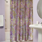 Greenland Home Fashions - Greenland Home Fashions Portia Paisley Shower Curtain - GL-1212ASHW - Shop for Shower Curtains from Hayneedle.com! Why would anyone ever go back to basic white shower curtains when they could have the Greenland Home Fashions Portia Paisley Shower Curtain in their bathroom? This playful curtain sets a new standard for what shower curtains can be. Its vivid visual style makes your washroom the place to be. This polyester/microfiber curtain is designed to fit standard showers.About Greenland Home FashionsFor the past 16 years Greenland Home Fashions has been perfecting its own approach to textile fashions. Through constant developments and updates - in traditional country and more modern styles the company has become a leading supplier and designer of decorative bedding to retailers nationwide. If you're looking for high-quality bedding that not only looks great but is crafted to last consider Greenland.