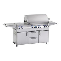 Fire Magic Echelon Diamond E660S Stand Alone Grill with Rotisserie Backburner, D