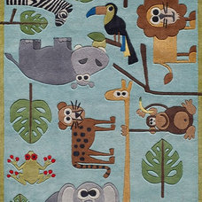 eclectic kids rugs by Momeni Rugs