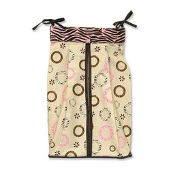 Trend Lab - Trend Lab Sweet Safari Pink Diaper Stacker - 106420 - Shop for Diaper Stackers from Hayneedle.com! Exotic and charming the Trend Lab Sweet Safari Pink Diaper Stacker proves that you needn't sacrifice practicality for style. Animal-inspired prints in shades of pink chocolate brown and caramel stand out against the ecru backdrop. Brown ribbons seal the deal. This handy tool will speed up the changing process making your little girl's diapers easily accessible. Crafted from soft 100% cotton with polyester ultra-suede trim this diaper stacker is easy to care for and maintain. Simply machine wash cold using the gentle cycle occasionally and either tumble dry low or line dry. Do not bleach or dry clean. A full range of Sweet Safari bedding and accessories is available for purchase separately to create a cohesive and stylish look in your child's bedroom.About Trend LabBegun in 2001 in Minnesota Trend Lab is a privately held company proudly owned by women. Rapid growth in the past five years has put Trend Lab products on the shelves of major retailers and the company continues to develop thoroughly tested high-quality baby and children's bedding decor and other items. With mature professionals at the helm of this business Trend Lab continues to inspire and provide its customers with stylish products for little ones. From bedding to cribs and everything in between Trend Lab is the right choice for your children.