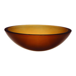 DecoLav - Decolav 1019T-FAM Translucence Round 19mm Glass Vessel in Frosted Amber - Decolav 1019T-FAM Translucence Round 19mm Glass Vessel in Frosted Amber DECOLAV's Translucence Round 19mm Glass Vessel is available in a multitude of colors offering a bouquet of options to your bathroom design. The options allow your dreams to be endless when using the 1019T Series. The Translucence Collection is defined by its vibrant colors and the safety and strength of its glass. These nineteen millimeter tempered glass lavatories make an unforgettable statement with thier strong horizontal lines and superb workmanship.Decolav 1019T-FAM Translucence Round 19mm Glass Vessel in Frosted Amber , Features:&#149 19mm tempered glass