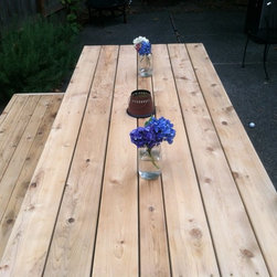 Outdoor Dining Table and Bench -
