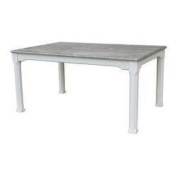 EuroLux Home - New Breakfast Table White/Cream Painted - Product Details