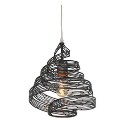 Varaluz - Varaluz 240P01 Flow 1 Light Recycled Steel Pendant - Features: