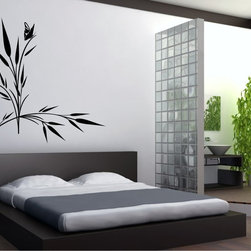 StickONmania - Butterfly Plant Design #2 Sticker - A cool vinyl decal wall art decoration for your home  Decorate your home with original vinyl decals made to order in our shop located in the USA. We only use the best equipment and materials to guarantee the everlasting quality of each vinyl sticker. Our original wall art design stickers are easy to apply on most flat surfaces, including slightly textured walls, windows, mirrors, or any smooth surface. Some wall decals may come in multiple pieces due to the size of the design, different sizes of most of our vinyl stickers are available, please message us for a quote. Interior wall decor stickers come with a MATTE finish that is easier to remove from painted surfaces but Exterior stickers for cars,  bathrooms and refrigerators come with a stickier GLOSSY finish that can also be used for exterior purposes. We DO NOT recommend using glossy finish stickers on walls. All of our Vinyl wall decals are removable but not re-positionable, simply peel and stick, no glue or chemicals needed. Our decals always come with instructions and if you order from Houzz we will always add a small thank you gift.