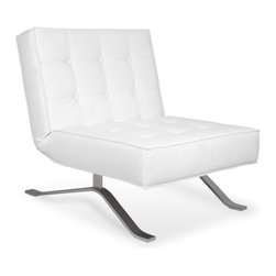 RED LIVING - Wave One White Lounge Chair - The Wave One Lounge Chair brings Italian design and great comfort to your home and office. It's back can be folded down to form a bench, making the Wave One Lounge Chair perfect for entertaining guests.