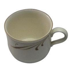 lenox - lenox Beige Brushstrokes Tea Cup - lenox Beige Brushstrokes Tea Cup