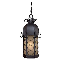 The Great Outdoors - The Great Outdoors GO 9244-PL 1 Light Fluorescent Lantern Pendant - Single Light Lantern Pendant from the Montalbo CollectionFeatures: