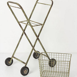 Cultivate Garden Cart - This sweet cart is darling, and the wheels add whimsy. It has a removable top and can be used with or without the stand. It would be perfect for indoor or outdoor use throughout the year.