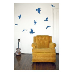 Design Your Wall - Bluebird - Wall Decal - Make your space feel light and airy with this flock of flying bluebirds.