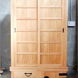 Japanese style clothing chest, armoire, for Brody - Measurements: 42″W x 27″D x 72″H