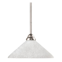 Z-Lite - Z-Lite Riviera Pendant Light X-41LWA-NB-PM0112 - Elegant and traditional best describes this beautiful mini pendant fixture. Finished in brushed nickel and paired with angle white linen shades, this fixture would be equally at home in the game room, or anywhere else in the house needing a touch of timeless charm. Adjustable rods are included to ensure a perfect hanging height.