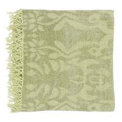 """Surya - Surya Tristen 50 x 70 Throw Blanket, Fern (TST-2003) - Surya TST-2003 Tristen 50"""" x 70"""" Throw Blanket, Fern"""