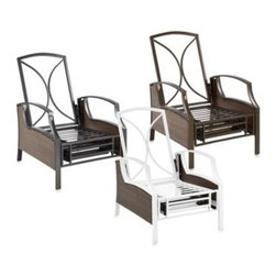 Ace Evert - Wicker Deep Seating Outdoor Recliner Frame - Made using an all steel body with a brown finish for strength and a wicker design for elegant styling.