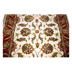 Momeni - Persian Garden 30 Inch Runner Traditional Stair Runner Ivory - Stair & Hallway Runners Are Sold By The Linear Foot!