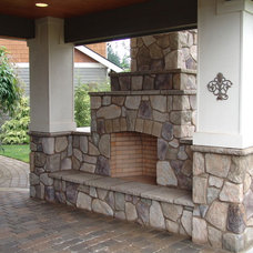 Traditional Patio by Brown Bros. Masonry
