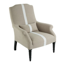 Aidan Gray Furniture Portia Chair in Dark Linen with Stripe