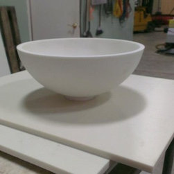 "Custom Sinks - Custom Thermoformed vanity bowl 10"" diameter. Model # 4000 Can be made from any Dupont Corian color*"