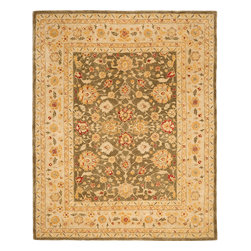 Safavieh - Safavieh Anatolia AN553A, Green, 8'x10' Rug - Anatolia Collection brings old world sophistication and quality in new tufted rugs. This collection captures the authentic look and feel of the decorative rugs made in the late 19th century in this region. Hand spun wool and an ancient pot dying technique together with a densely woven thick pile, gives Anatolia rugs their authentic finish.